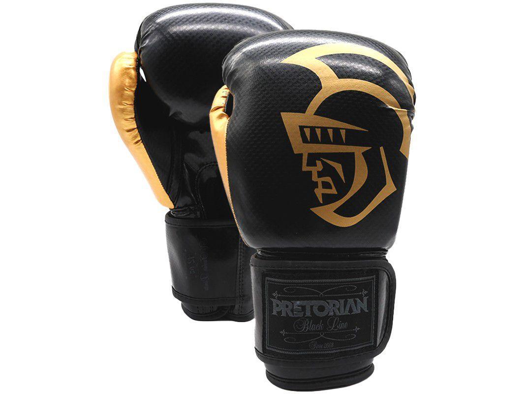 Luva de Boxe/Muay Thai Pretorian Black 14oz