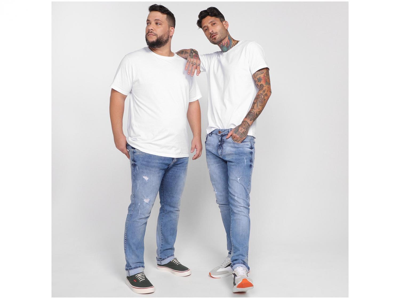 Camiseta Masculino Vista Magalu Básicos Branco