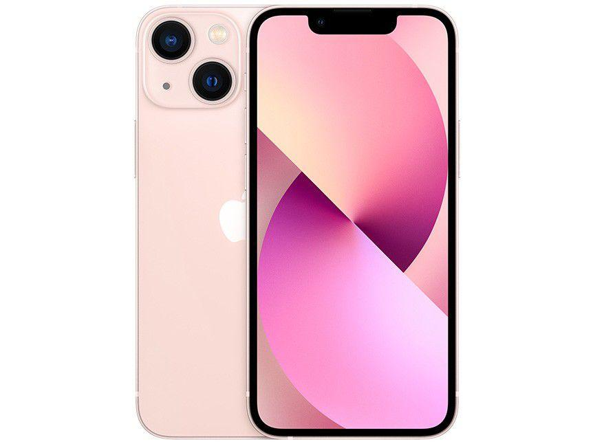 """Apple iPhone 13 Mini 128GB Rosa Tela 5,4"""" - 12MP iOS"""