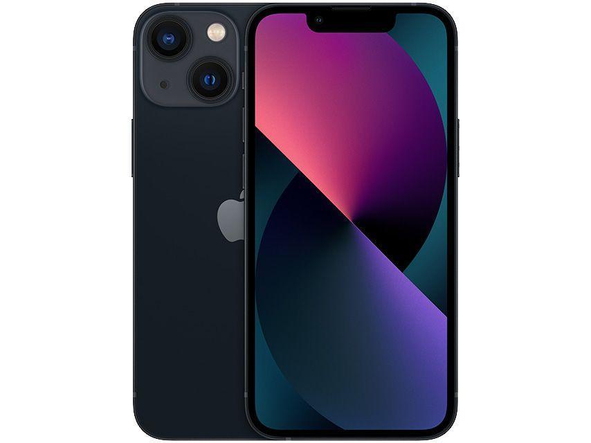 "Apple iPhone 13 Mini 256GB Meia-noite Tela 5,4"" - 12MP iOS"