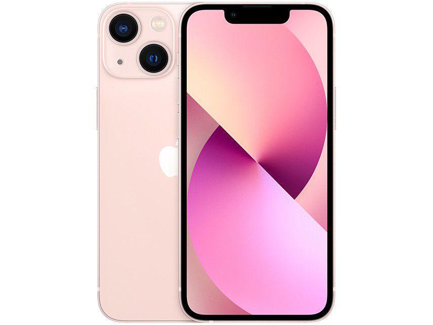 """Apple iPhone 13 Mini 256GB Rosa Tela 5,4"""" - 12MP iOS"""
