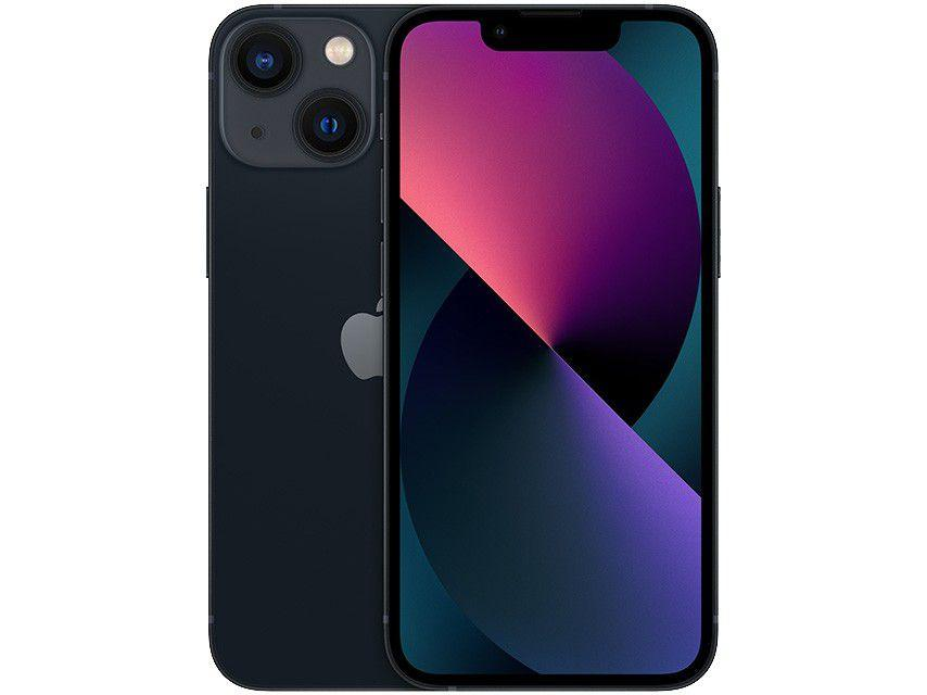 "Apple iPhone 13 Mini 512GB Meia-Noite Tela 5,4"" - 12MP iOS"