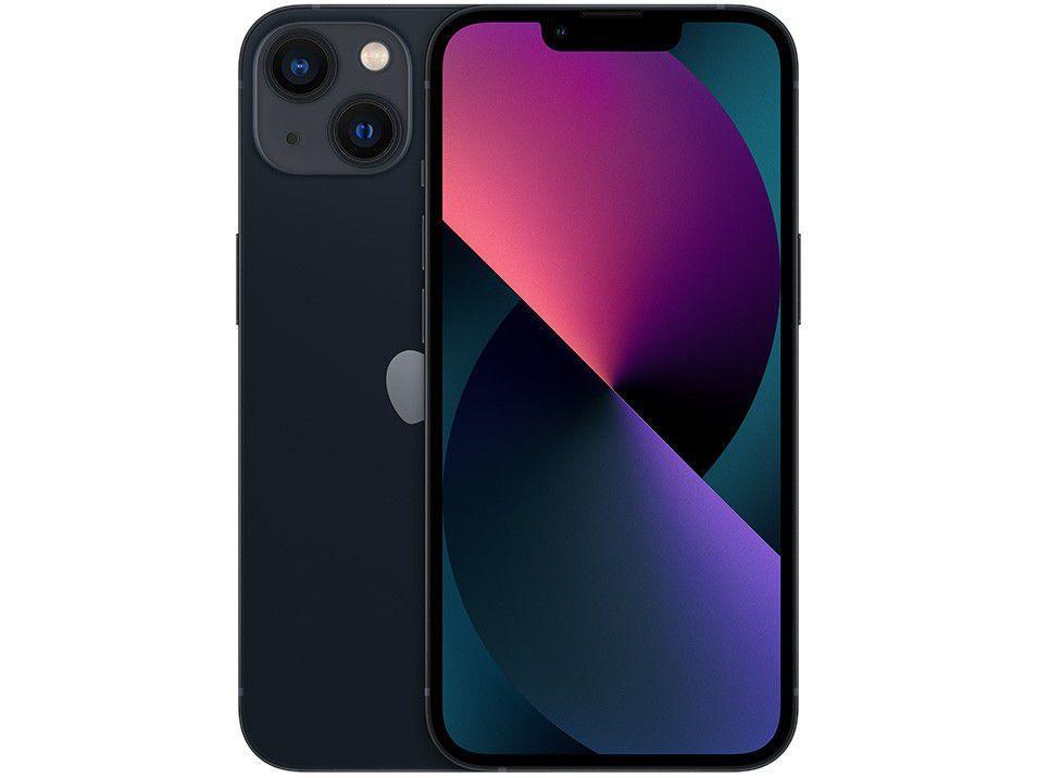 "Apple iPhone 13 256GB Meia-Noite Tela 6,1"" - 12MP iOS"