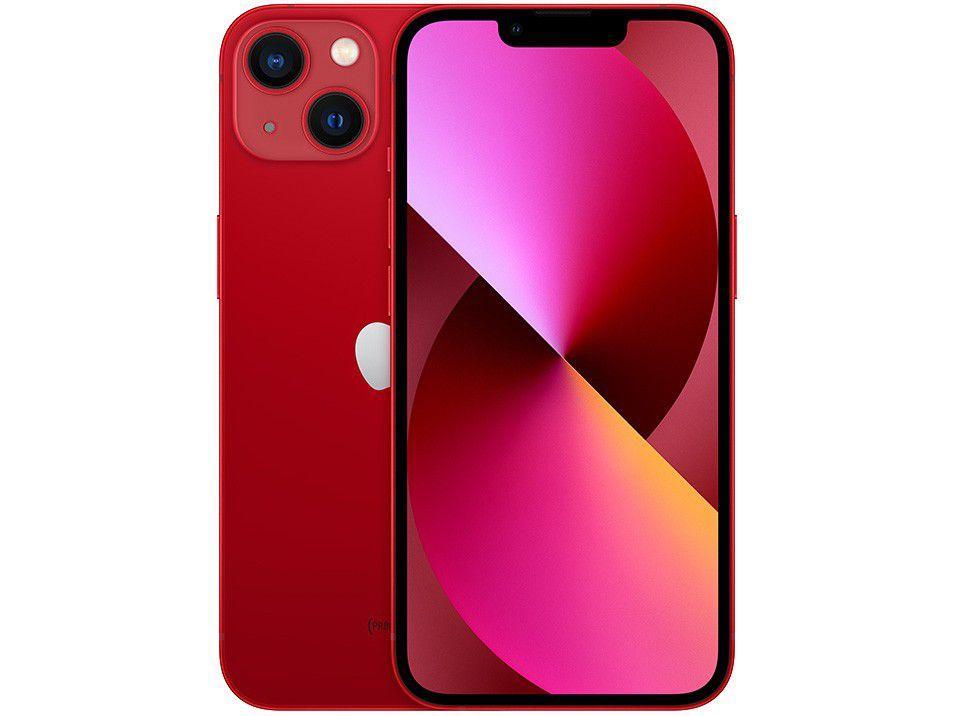 "Apple iPhone 13 256GB (PRODUCT)RED Tela 6,1"" - 12MP iOS"