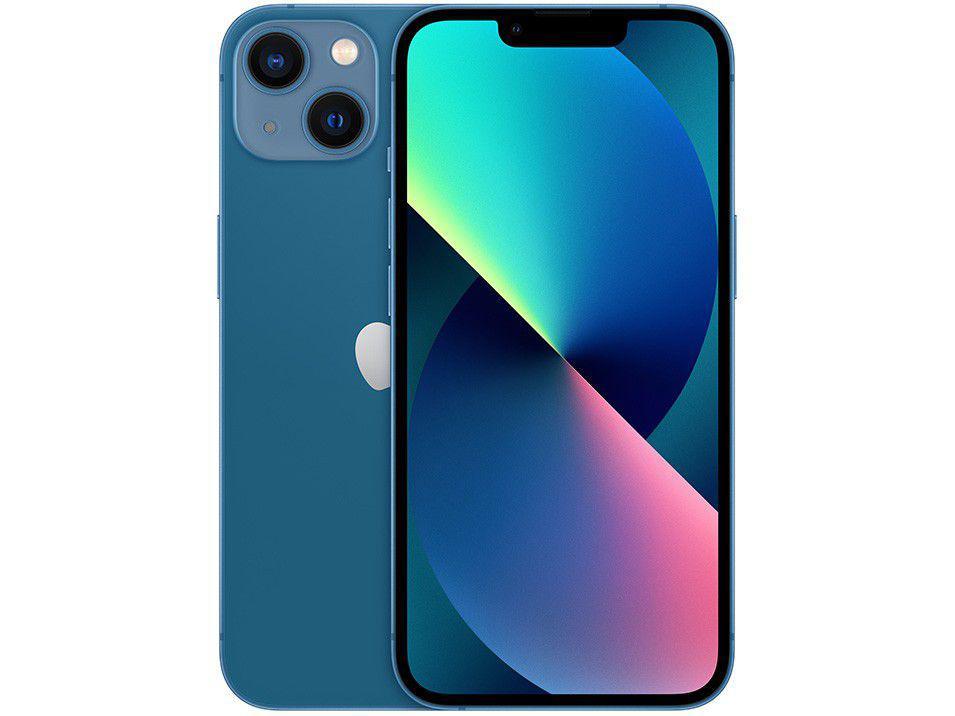 """Apple iPhone 13 256GB Azul Tela 6,1"""" - 12MP iOS"""