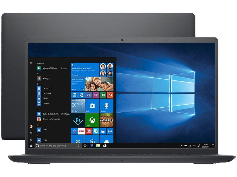 """Notebook Dell Inspiron 15 3000 Intel Core i3 8GB - 256GB SSD 15,6"""" Windows 10 i15-i1000-A30P"""