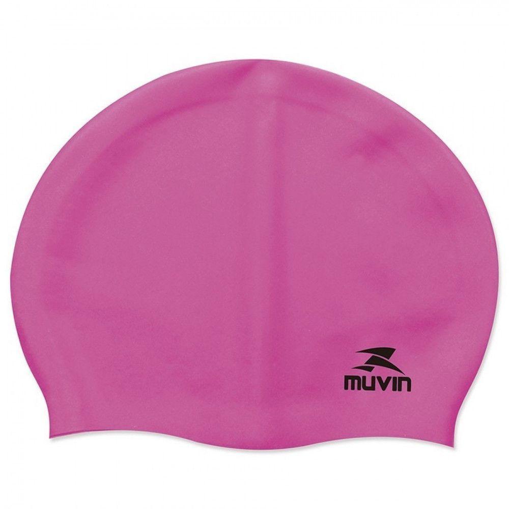 Touca para Natacao e Hidroginastica em Silicone Slim Pink muvin R  20 591ba29bdc93f