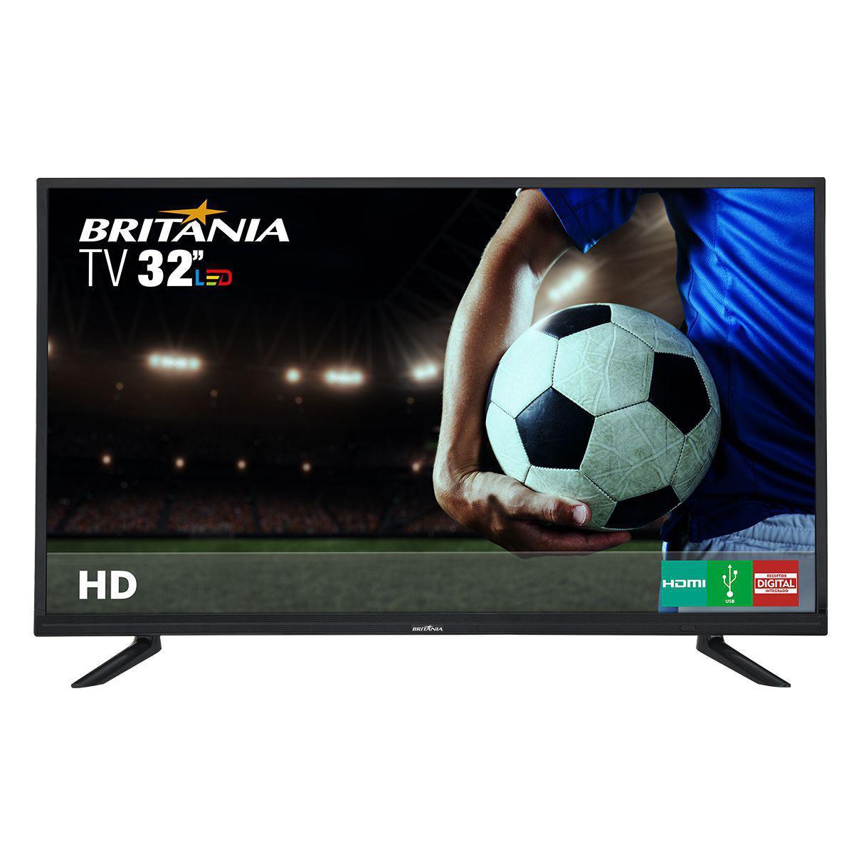 64283ced7 TV Britânia 32 polegadas LED BTV32D12D Hd Conversor digital integrado Usb  Hdmi Bivolt Produto não disponível
