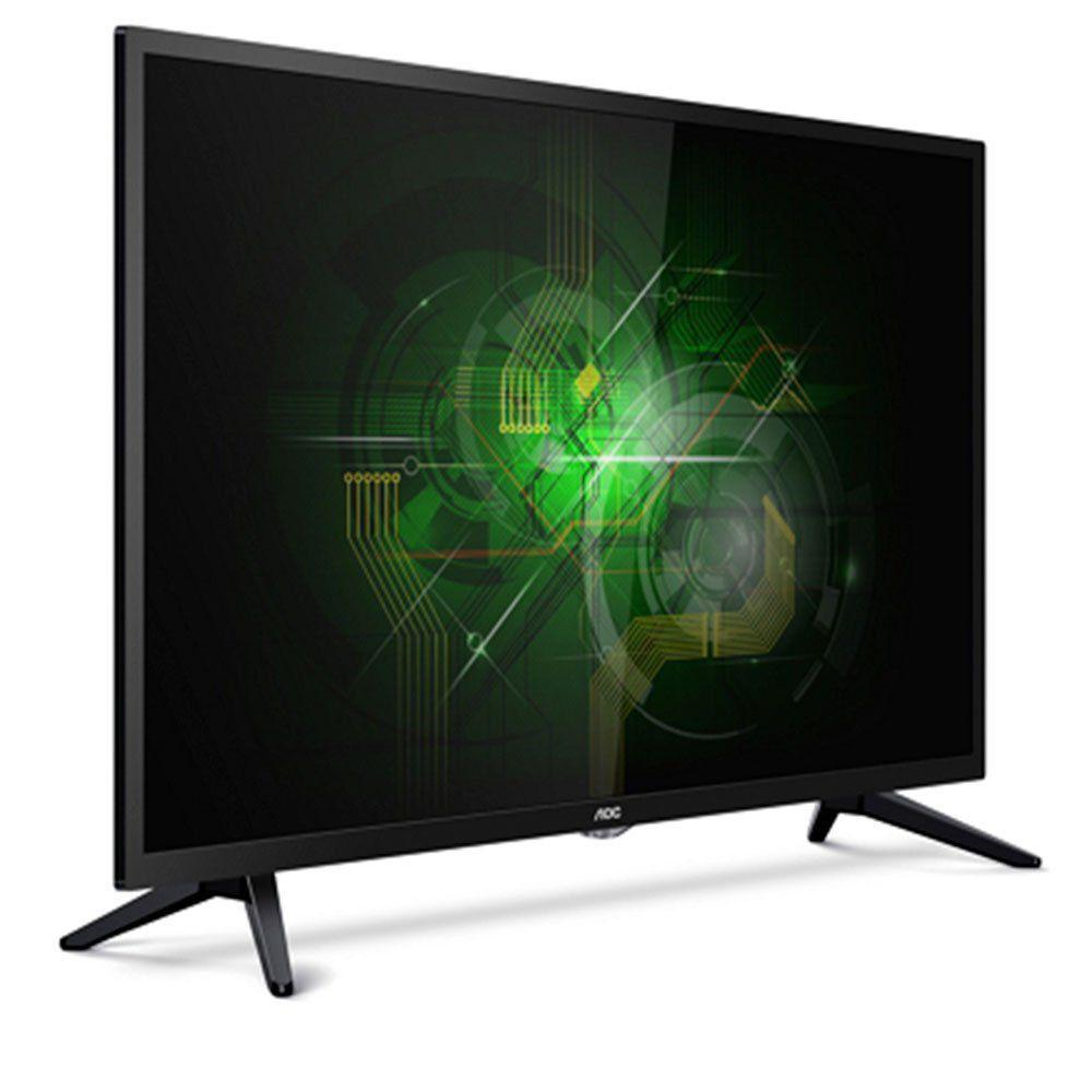 07b22762caca9 TV LED AOC 32 Polegadas HD Conversor Digital Entrada USB HDMI LE32M1475 -  Aoc linha marrom R  839