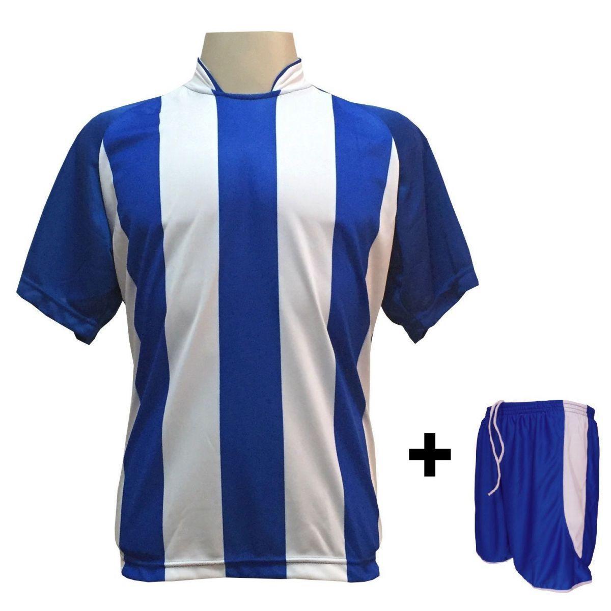 a26b21608a Uniforme Esportivo com 12 Camisas modelo Milan Royal Branco + 12 Calções  modelo Copa Royal Branco - Play fair - Futebol - Magazine Luiza