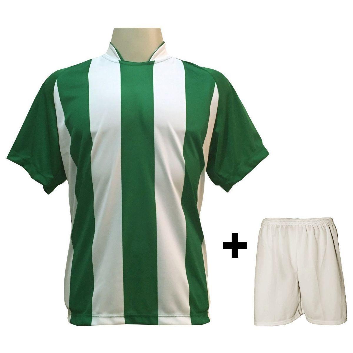 Uniforme Esportivo com 12 Camisas modelo Milan Verde Branco + 12 Calções  modelo Madrid Branco - Play fair - Futebol - Magazine Luiza 7caac6b2e1bfb
