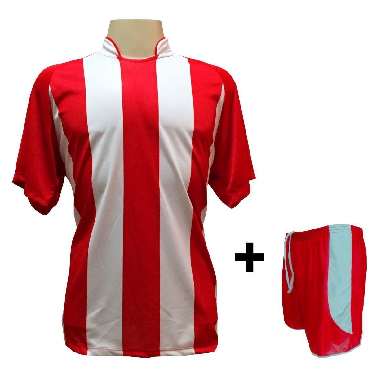 875574cecd Uniforme Esportivo com 12 camisas modelo Milan Vermelho Branco + 12 calções  modelo Copa + 1 Goleiro + Brindes - Play fair - Futebol - Magazine Luiza