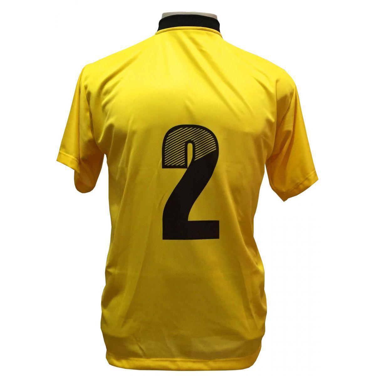 6d3f81034f Uniforme Esportivo com 12 Camisas modelo Roma Amarelo Preto + 12 Calções  modelo Madrid Preto - Play fair - Uniforme de Futebol - Magazine Luiza