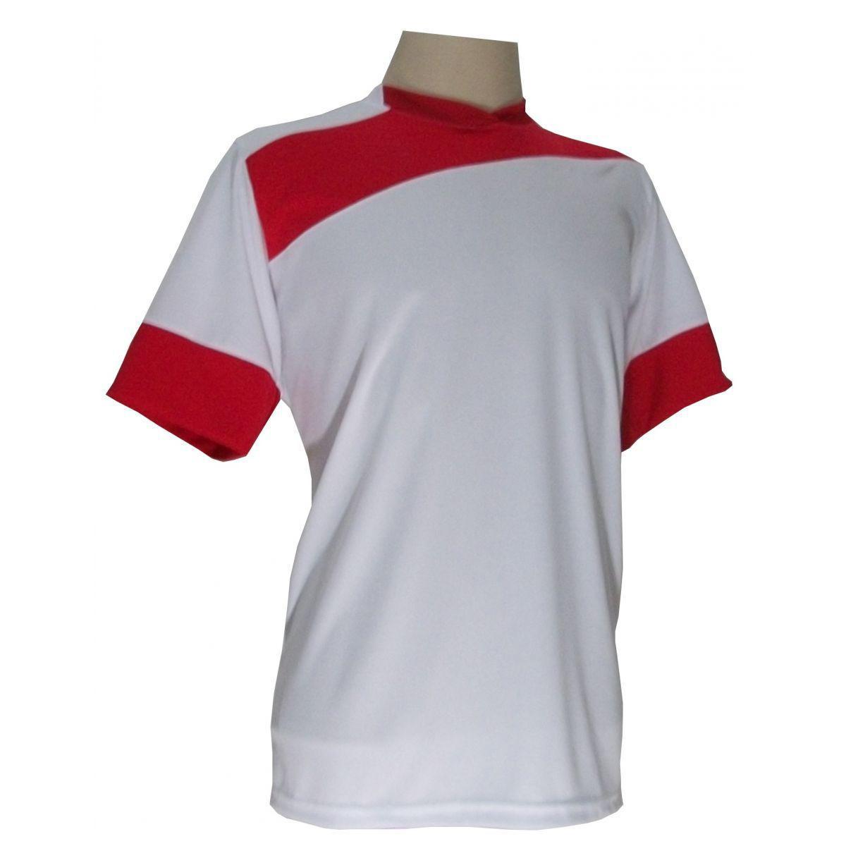 4def230678d63 Uniforme Esportivo com 14 camisas modelo Sporting Branco Vermelho + 14  calções modelo Copa + 1 Goleiro + Brindes - Gazza R  639