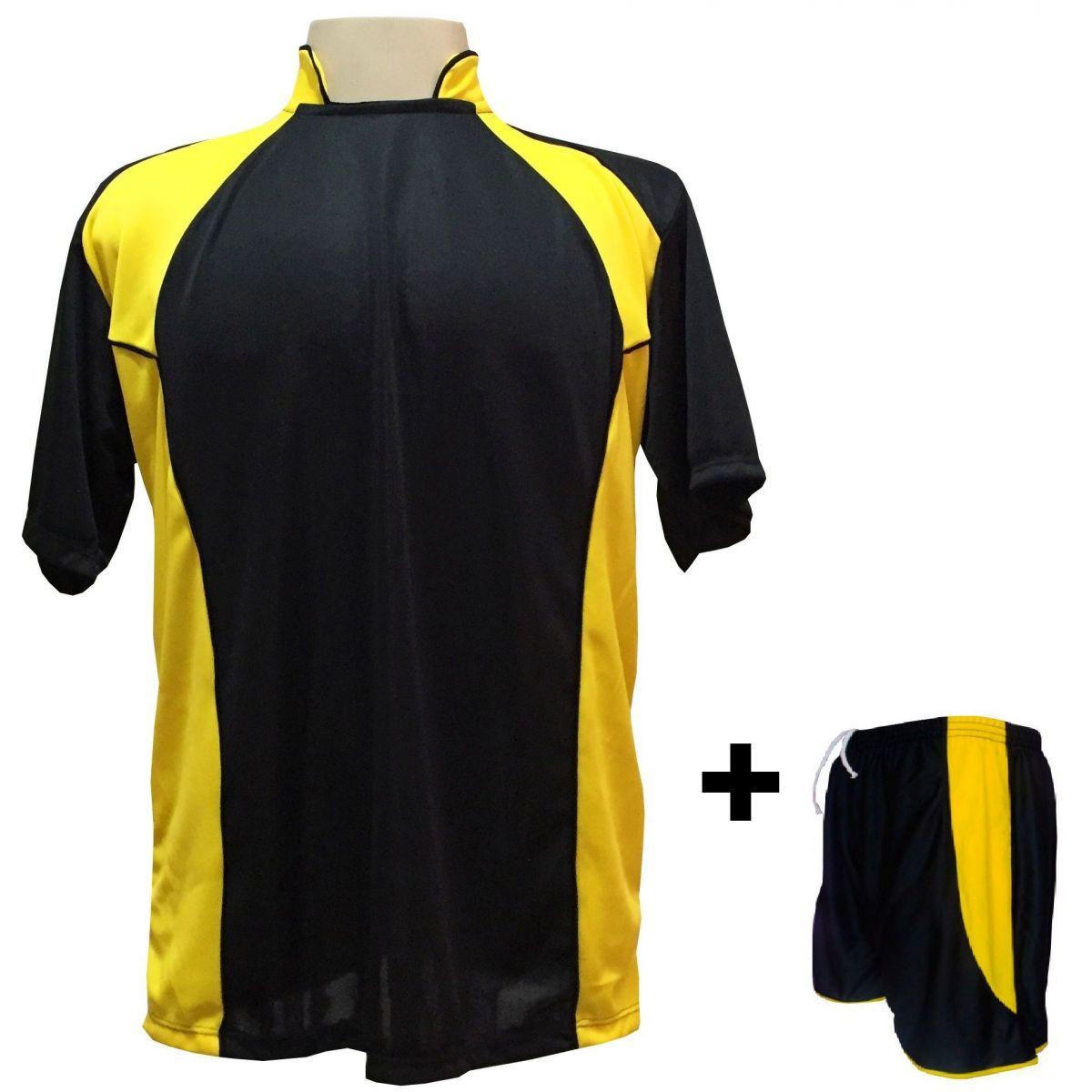 cd87dc79c4 Uniforme Esportivo com 14 camisas modelo Suécia Preto Amarelo + 14 calções  modelo Copa + 1 Goleiro + Brindes - Play fair - Futebol - Magazine Luiza