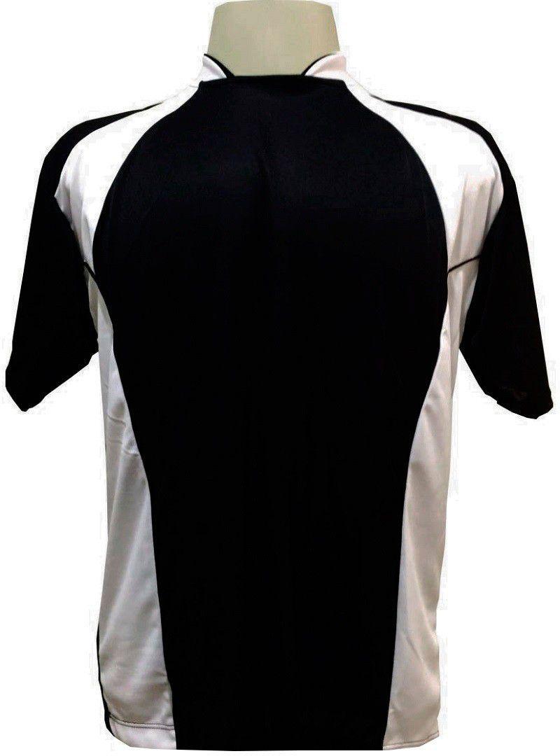 9cf38bafaa561 Uniforme Esportivo com 14 camisas modelo Suécia Preto Branco + 14 calções  modelo Copa Preto Branco + Brindes - Play fair R  569