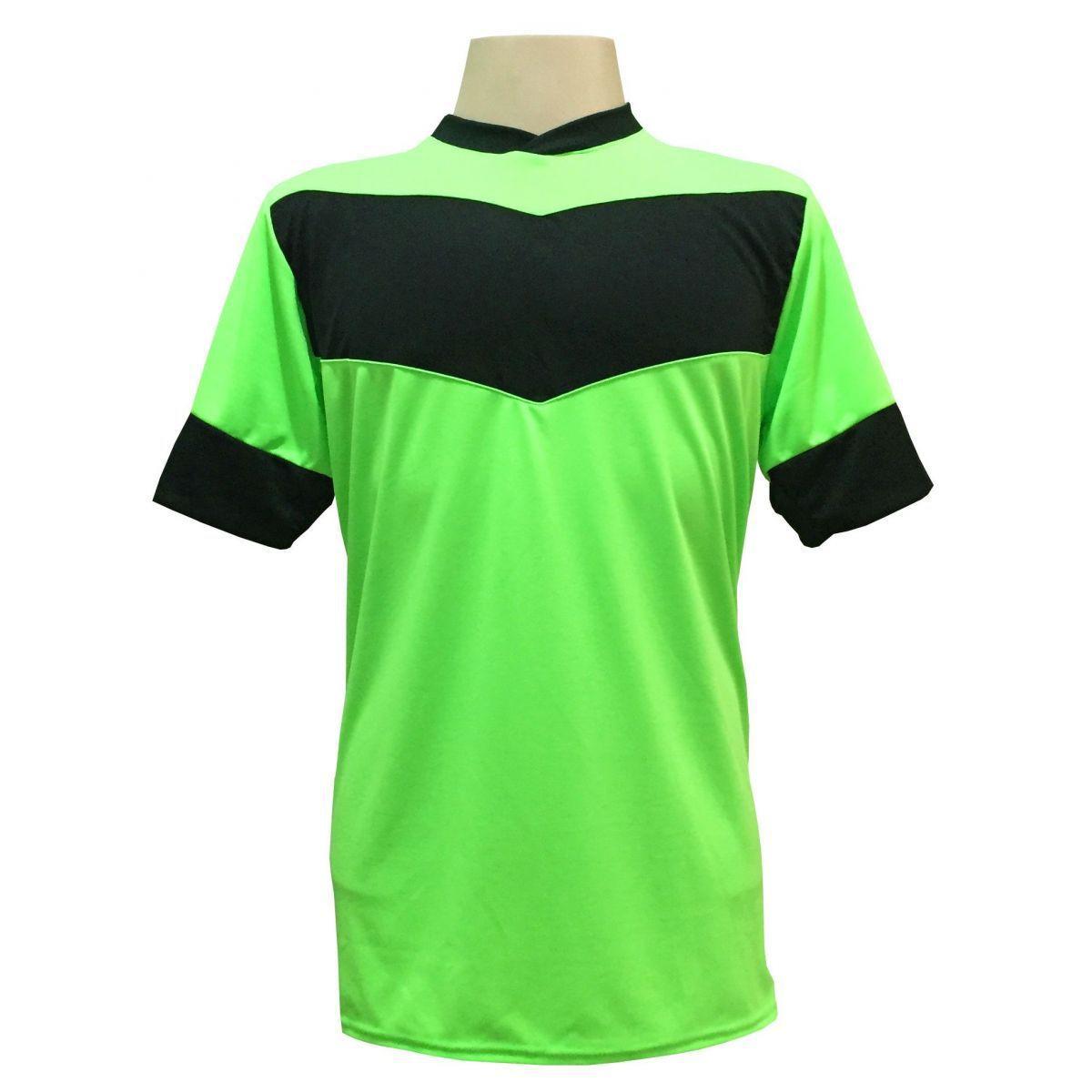 e62e57d1 Uniforme Esportivo com 18 camisas modelo Columbus Limão/Preto + 18 calções  modelo Madrid + 1 Goleiro + Brindes - Gazza - Uniforme de Futebol -  Magazine ...
