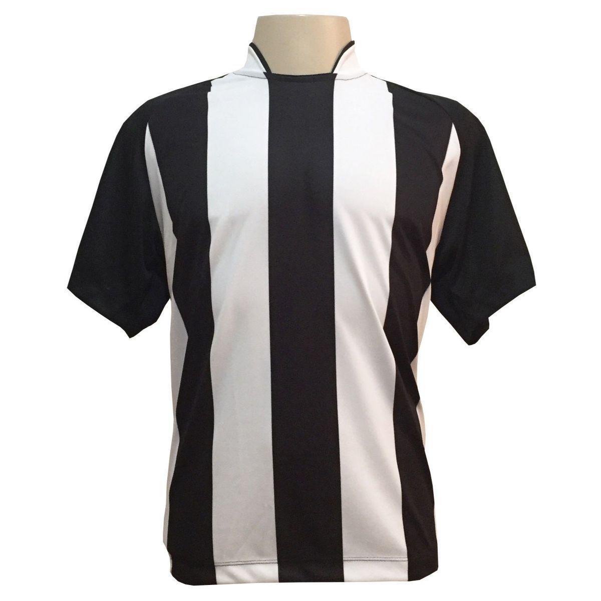 Uniforme Esportivo com 18 camisas modelo Milan Preto Branco + 18 calções  modelo Madrid + 1 Goleiro + Brindes - Play fair - Futebol - Magazine Luiza 428a469bed3e7