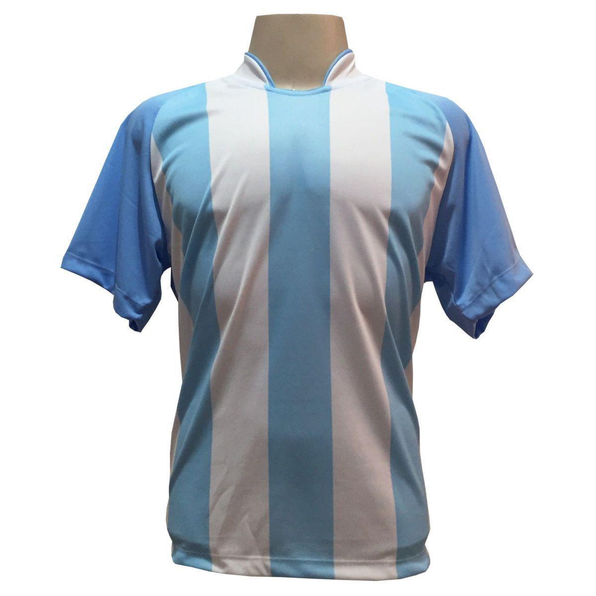 01efa22c65 Uniforme Esportivo com 20 camisas modelo Milan Celeste Branco + 20 calções  modelo Madrid + 1 Goleiro + Brindes - Play fair - Futebol - Magazine Luiza