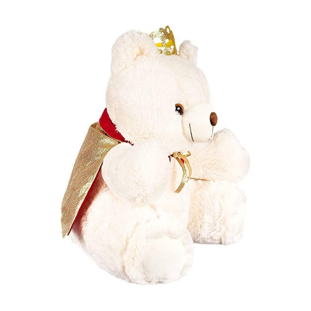 Urso Pelúcia Importada Mini Marfim Rei Coroa Capa - W.u. pelúcias R  48 28c0a91f38306