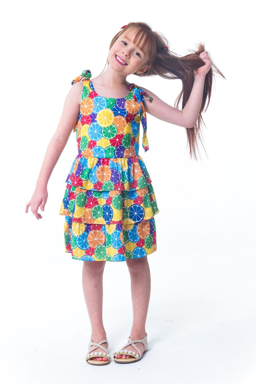 b7023a5c3 Vestido De Alça Infantil Summer - Tamanho 4 - Casa de bonecas R  35