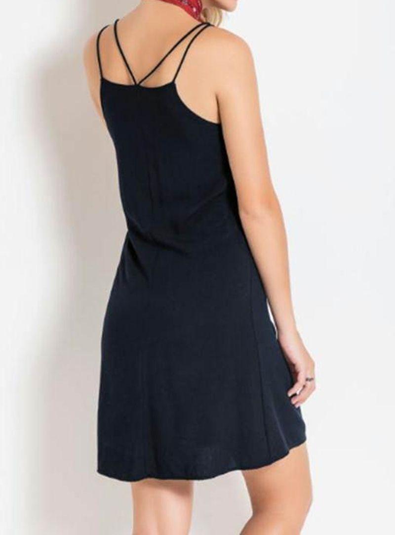 acebfd63c Vestido Feminino de Alça Curto - Quintess R$ 59,99 à vista. Adicionar à  sacola
