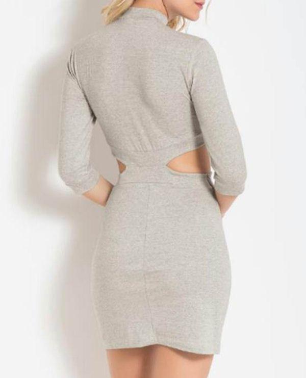 e3bdba944 Vestido Feminino Gola Alta - Quintess R$ 49,99 à vista. Adicionar à sacola
