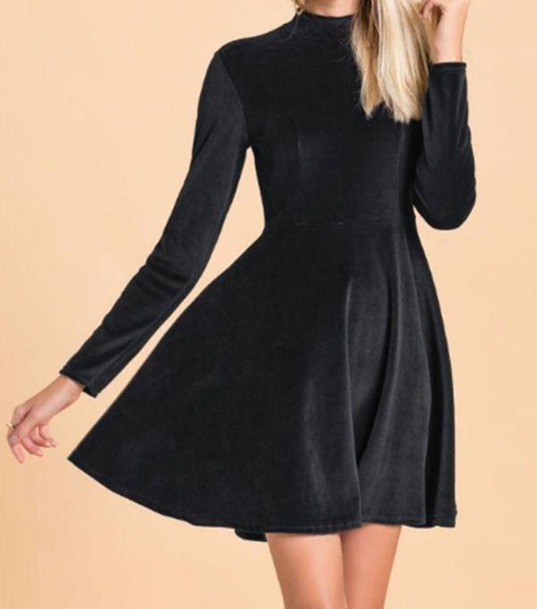 2048e241b Vestido Feminino Trançado Plush Preto - Quintess R$ 69,90 à vista.  Adicionar à sacola