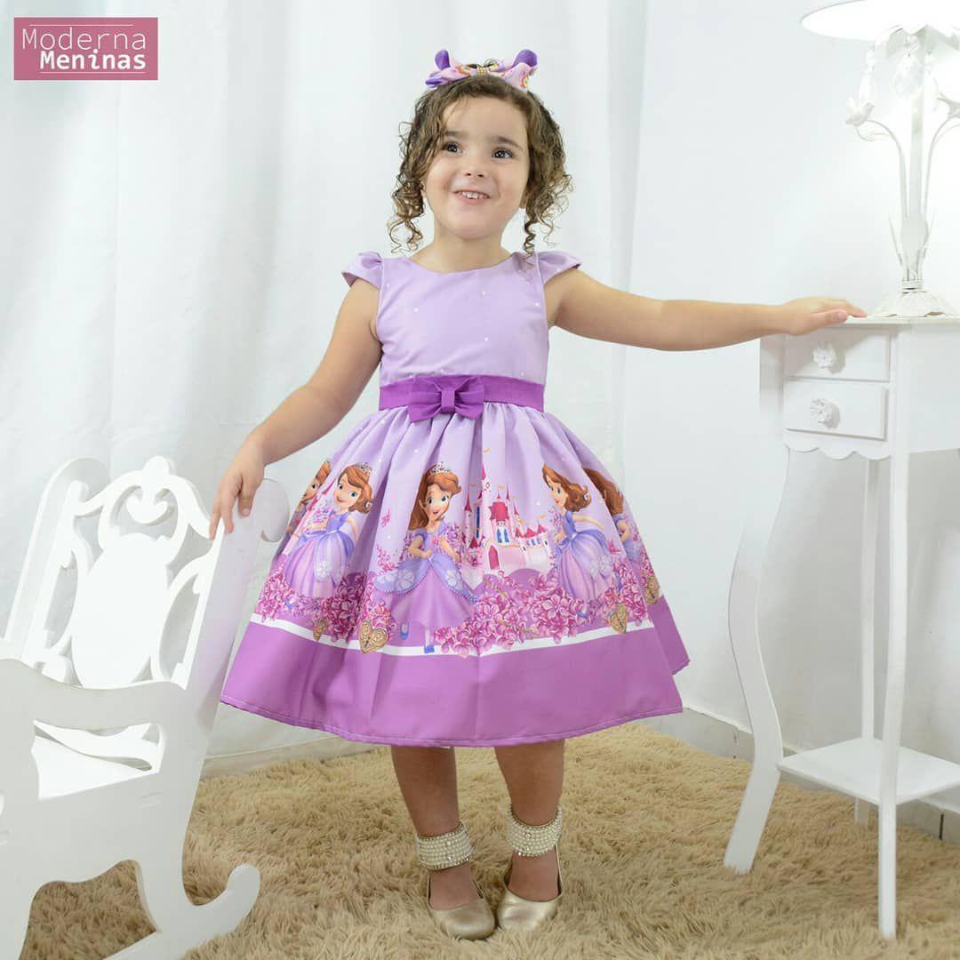 Vestido Festa Infantil Da Princesa Sofia Festa Moderna Meninas