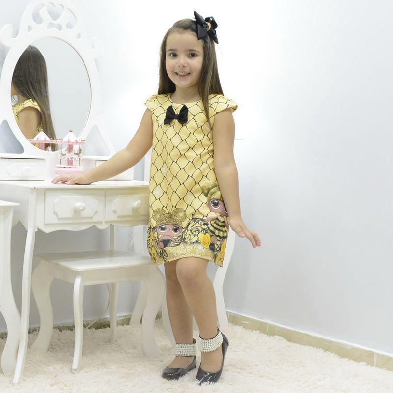 Vestido Infantil Boneca Lol Queen Bee Abelhinha Tubinho Trapezio Moderna Meninas Fantasia Magazine Luiza