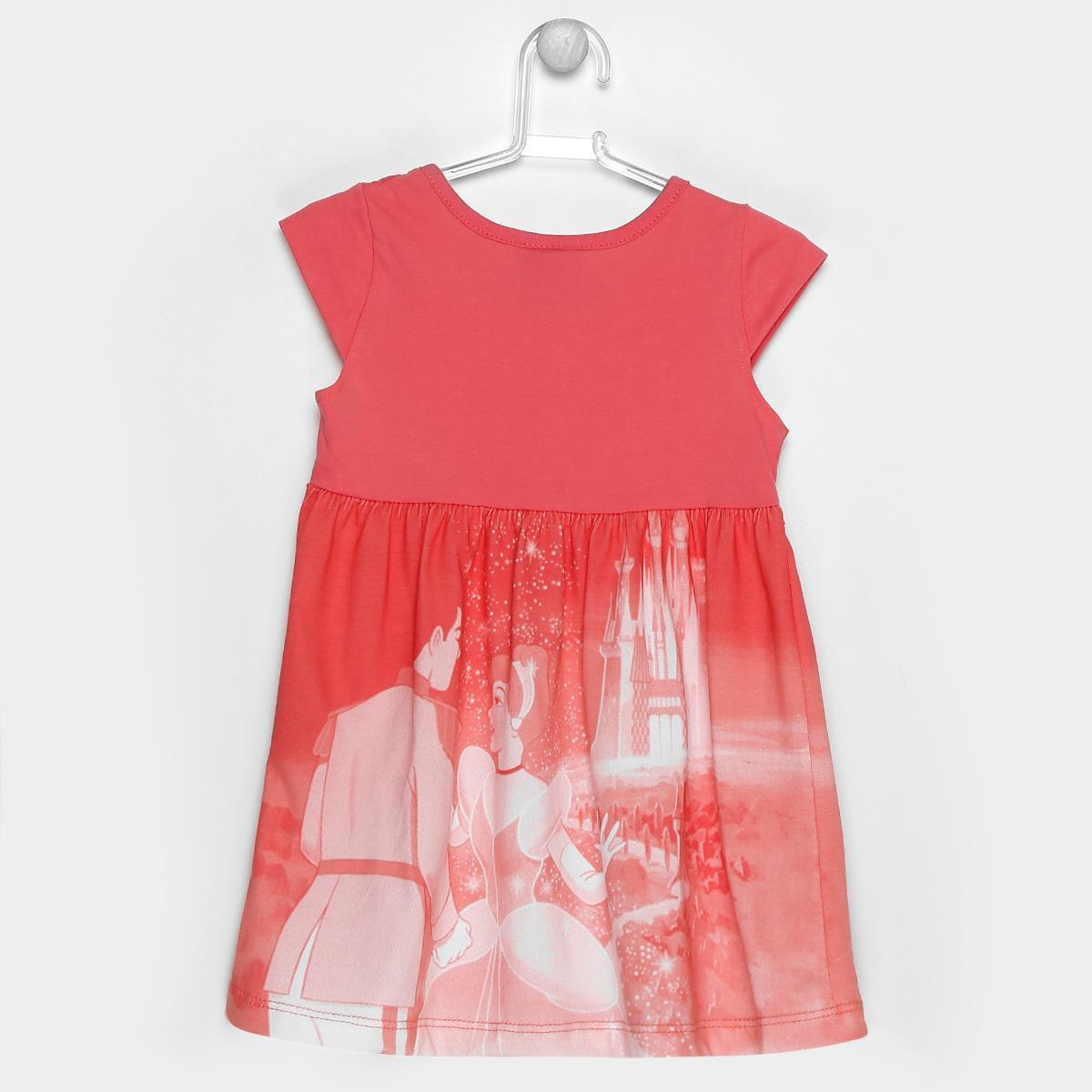 4425f3e9f87ed3 Vestido Infantil Brandili Princesas