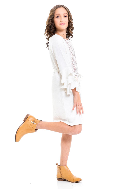 Vestido Infantil Menina Manga Lonaga Tamanho 12 Casa De
