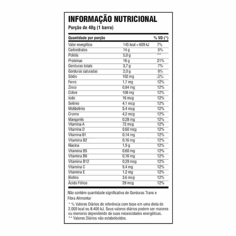 f9f738587 Whey bar 24 unidades - cookies - Probiótica - BCAA - Magazine Luiza