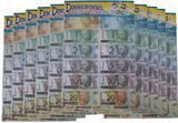 05 Embalagens Mini Dinheiro Brinquedo C/70 Unidades Cada - Brinks