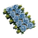 10 Prendendores Floral Azul Decoração Festas - Cromus