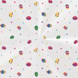 100 Sacos Poli Transp. Pascoa P/Cesta 10X14Cm Ovos Color - Cromus pascoa