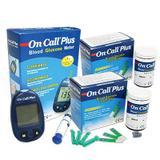 100 Tiras para medição de Glicose (dupla) +Glicosimetro - On Call Plus
