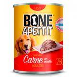 12 Latas Alimento Úmido para Cães Patê Sabor Carne 280g Bone Apettit