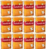 12 Pacotes de Fralda Geriátrica Adultcare Premium XG