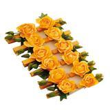 12 Prendedores Floral Amarelo Decoração Festas - Cromus