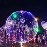 17 Balão BubbleTransparente Com Led Aniversario Casamento Bexiga - Imp
