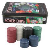 2 Caixas De Fichas De Plástico Para Poker 200 Pças - Clink