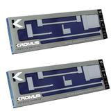 2 Kits Acessórios De Banheiro Quadratus 5 Pçs Aço Inox Q5002 - Kromus