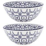 2 Tigela Bowl de Cerâmica Náutico Cumbuca 16cm Oxford