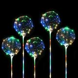 20 Balões Bubble Festa Com Led Aniversario Casamento Bexiga Balada - Imp