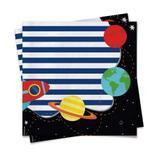 20 Guardanapos Papel Mesa Astronauta 25X25Cm - Cromus