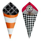 24 Cones Médios Sort. Garage  Dec. Festas - Cromus