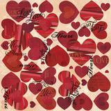 25 Saco Metalizado Presente 45X59Cm Amavel Coração Vermelho - Cromus