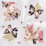 25 Saco Poli Transp. 52X70Cm Floral Rosa/Preto - Cromus