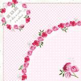 25 Sacos P/Embalar Ovo Pascoa 500G Floral Rosa - Cromus pascoa